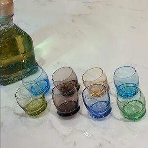 Tipsy Coloured Shot Glasses set of 8